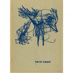 catalogue de l'exposition de Karel Appel  à la Galerie Rive Droite, 1955