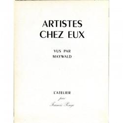 """Page de titre de la revue """"Artistes chez eux"""" photos de Maywald"""