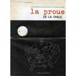 """""""La Proue de la table"""" journal rédigé par Yves Elléouët et illustré par Calder, 1967"""