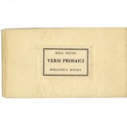 Versi prosaici, d'Ezra Pound, Bibliotheca Minima, Salvatore Sciascia Editore, 1959