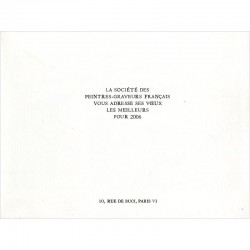 Jacques Hallez vœux Société des Peintres-Graveurs français