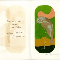 voeux d'André Minaux en lithographie