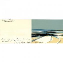 lithographie vœux Line et Roger Mühl