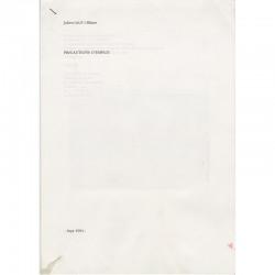 tapuscrit original de Julien Blaine, 1994