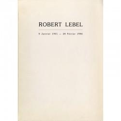 faire-part pour la cérémonie d'enterrement de Robert Lebel, 1986