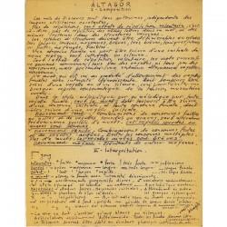 """tract manuscrit André Vernier, dit """"Àltagõr"""", reproduit en ronéotypie"""