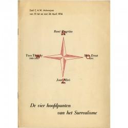"""""""De vier hoofdpunten van de Surrealisme"""", Magritte, Ernst, Miro, Tanguy, 1956"""