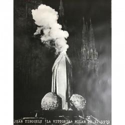 Jean Tinguely affiche du happening La vittoria à Milan